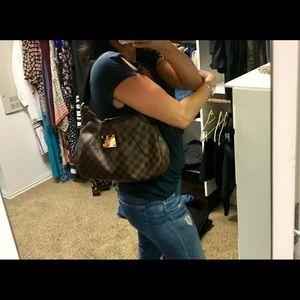 Louis Vuitton Thanes Damier Ebene Canvas Hobo Bag